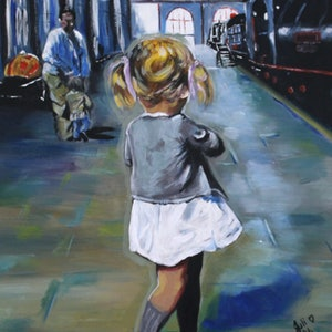 (CreativeWork) Just Waiting - Finalist Rotary Art Spectacular 2017 by Julie Hollis. acrylic-painting. Shop online at Bluethumb.