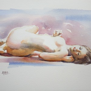"""(CreativeWork) """"A Twist in the Tail"""" by Pauline Adair. watercolour. Shop online at Bluethumb."""
