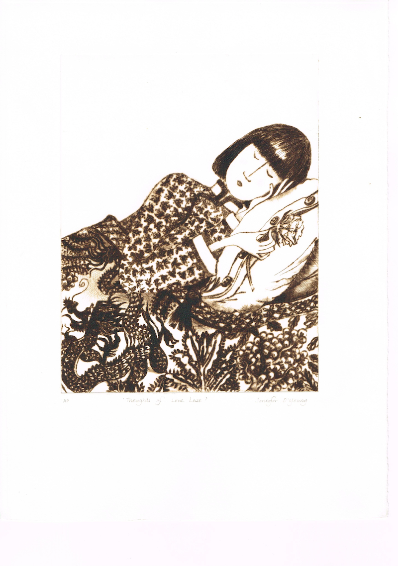 (CreativeWork) 'Thoughts of Love Lost' by Jennifer O'Young. print. Shop online at Bluethumb.