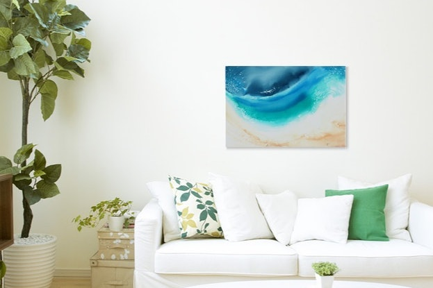 (CreativeWork) Ningaloo from Above   Indian Ocean  Ed. 26 of 100 by Laurie Jean Cochrane. Print. Shop online at Bluethumb.