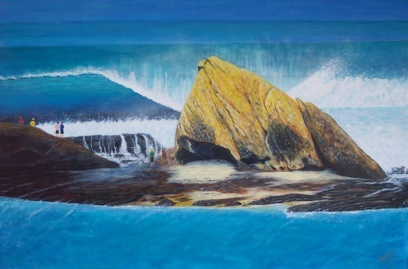 (CreativeWork) Currumbin by Ronny Silcock. arcylic-painting. Shop online at Bluethumb.