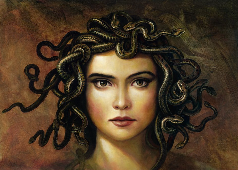 (CreativeWork) Medusa by Glen Vause. oil-painting. Shop online at Bluethumb.