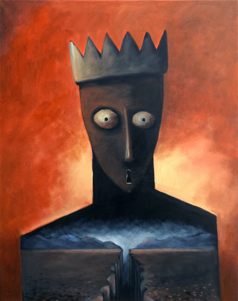 (CreativeWork) KING by Max Horst  Sokolowski. arcylic-painting. Shop online at Bluethumb.