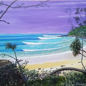 (CreativeWork) Tee Tree Bay by Ronny Silcock. arcylic-painting. Shop online at Bluethumb.