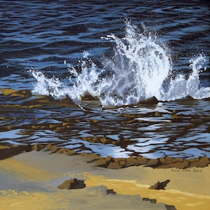 (CreativeWork) Wave Study 10 by Julie Cane. oil-painting. Shop online at Bluethumb.