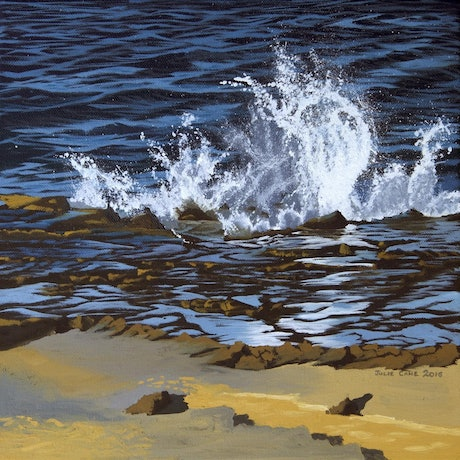 (CreativeWork) Wave Study 10 by Julie Cane. Oil Paint. Shop online at Bluethumb.