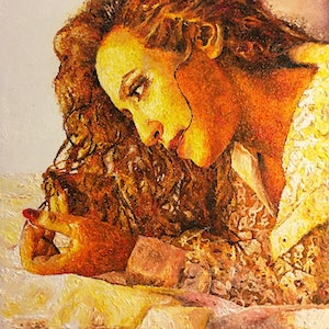 (CreativeWork) Dreams by Mahyat Tehrany. oil-painting. Shop online at Bluethumb.