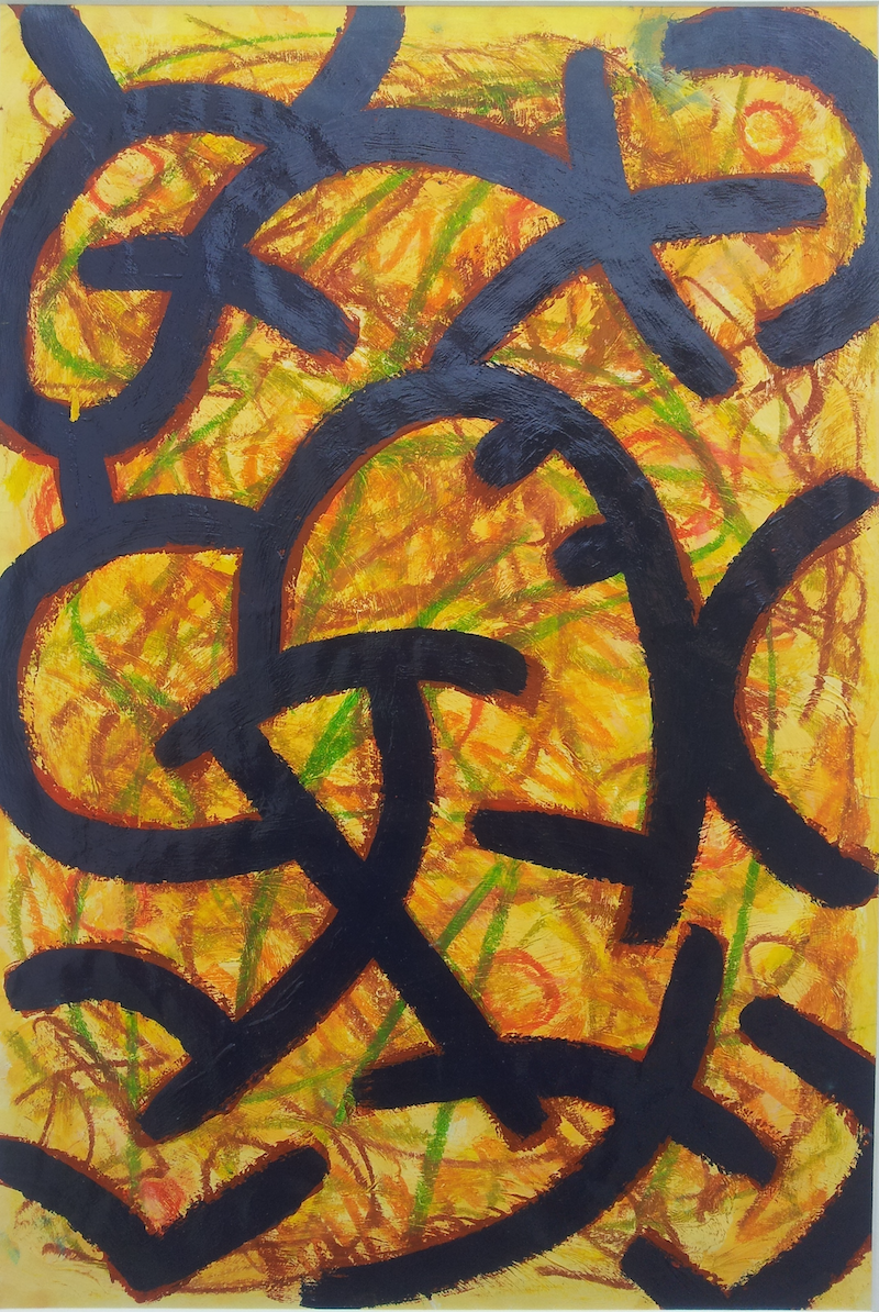 (CreativeWork) Captivated Entanglement by Meled Taouk. arcylic-painting. Shop online at Bluethumb.