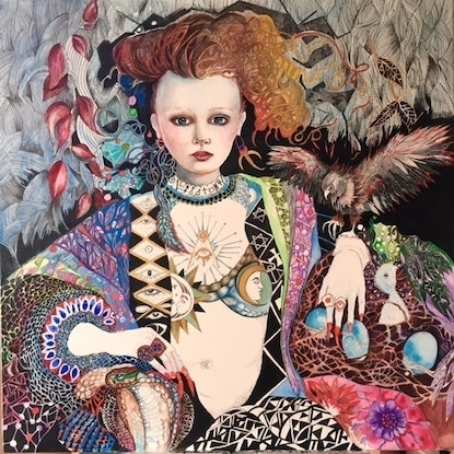 (CreativeWork) Cybele- Limited Edition Glicee Print 3/100, available in square format 75cm X 75cm at $800, framed for $1200. Custom sizing available Ed. 3 of 100 by Annette Golden. Print. Shop online at Bluethumb.