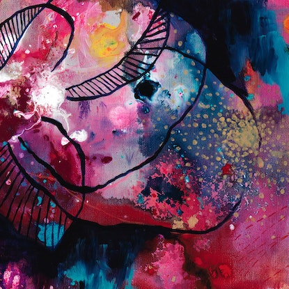 (CreativeWork) Surrender to the Beauty by Brenda Mangalore. Acrylic Paint. Shop online at Bluethumb.