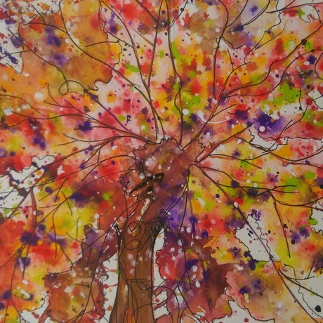 (CreativeWork) Enchanted wishing tree 2 by Meredith Dixon. Mixed Media. Shop online at Bluethumb.