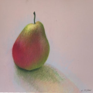 (CreativeWork) Still Life 2 - Pear by Ishbel Morag Miller. drawing. Shop online at Bluethumb.