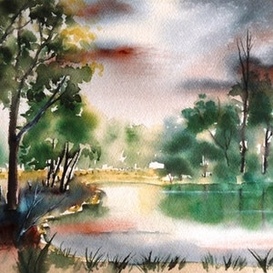(CreativeWork) Early Morning Light by Lorelle Boyce. watercolour. Shop online at Bluethumb.