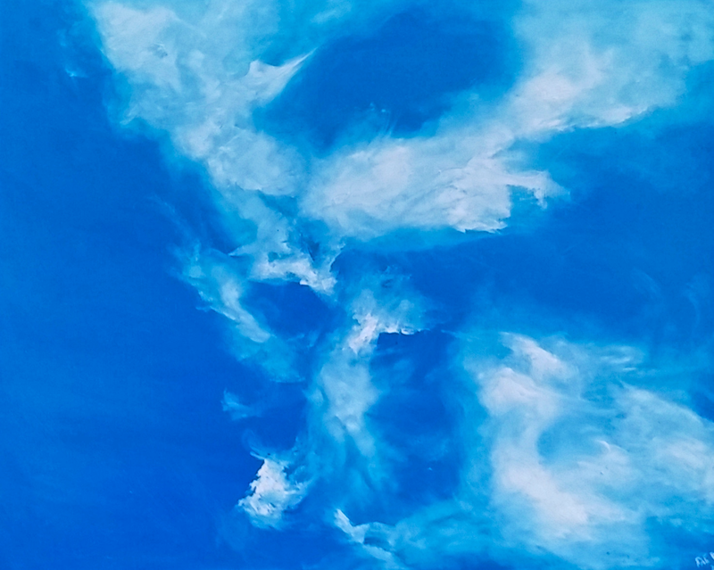 (CreativeWork) Cloudscape 2 by Fae Ballingall. oil-painting. Shop online at Bluethumb.
