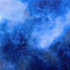 """(CreativeWork) """"Astral""""- large original abstract painting in mixed media on board by John Louis Lloyd. mixed-media. Shop online at Bluethumb."""