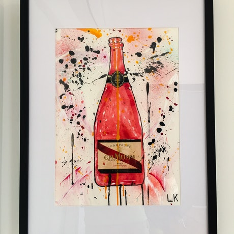 (CreativeWork) G.H. MUMM I by Leith Kennedy. Mixed Media. Shop online at Bluethumb.