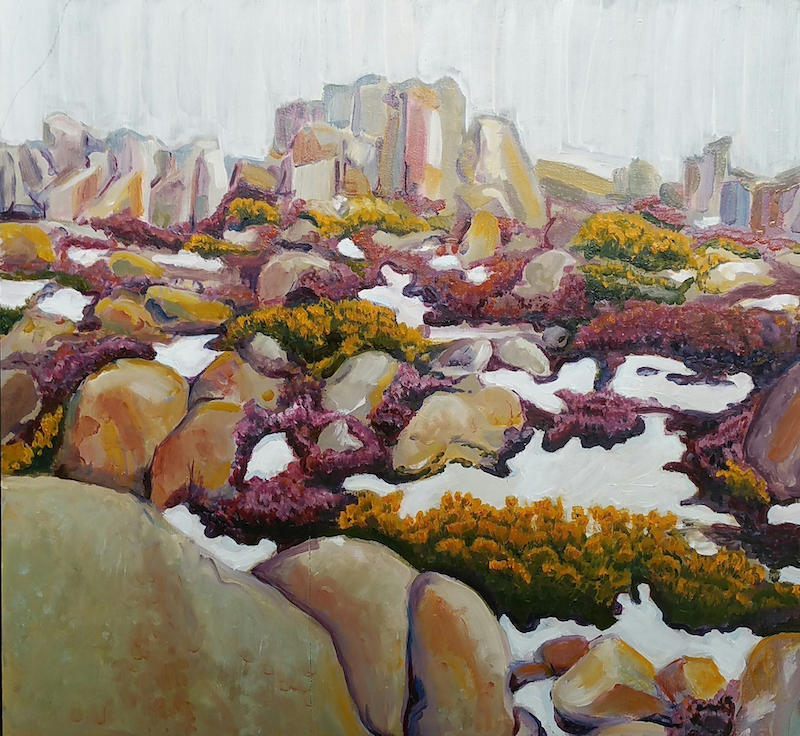 (CreativeWork) Mt Wellington by Kerrie Orth. acrylic-painting. Shop online at Bluethumb.