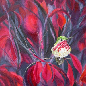 (CreativeWork) In the Pink by Carry Smith. arcylic-painting. Shop online at Bluethumb.