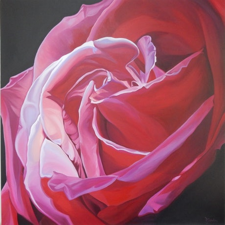 (CreativeWork) Heart's Desire by Bernadette Jordan. Acrylic Paint. Shop online at Bluethumb.