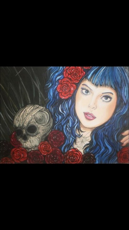 (CreativeWork) Killer Instinct by Caitlin Broderick. arcylic-painting. Shop online at Bluethumb.