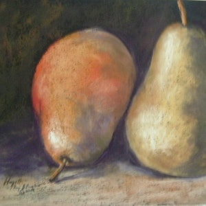 (CreativeWork) Pair of Pears (Framed) by Hazell Ray-Billington. other-media. Shop online at Bluethumb.