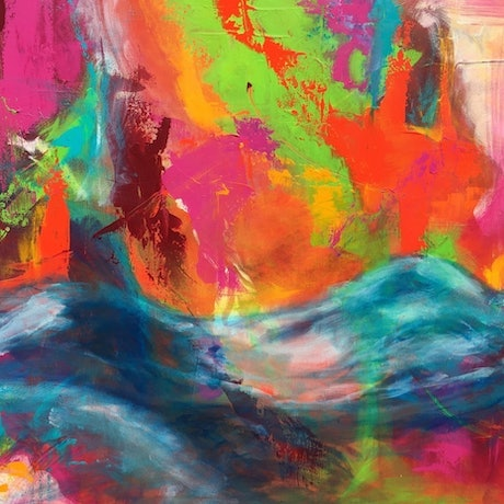 (CreativeWork) Immersed in Colour by monika alston. Acrylic Paint. Shop online at Bluethumb.