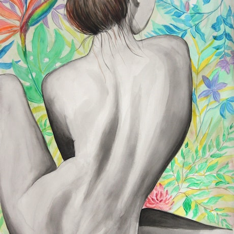 (CreativeWork) Chrissie 56 by 76cm watercolour by Linda Hammond. Watercolour Paint. Shop online at Bluethumb.