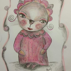 (CreativeWork) Maisie mouse.. Drawing. by Tiarni Badger. mixed-media. Shop online at Bluethumb.