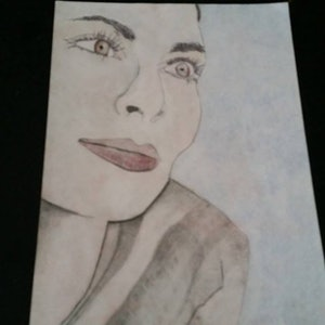 (CreativeWork) Lost in thought by Karen Forrest. drawing. Shop online at Bluethumb.