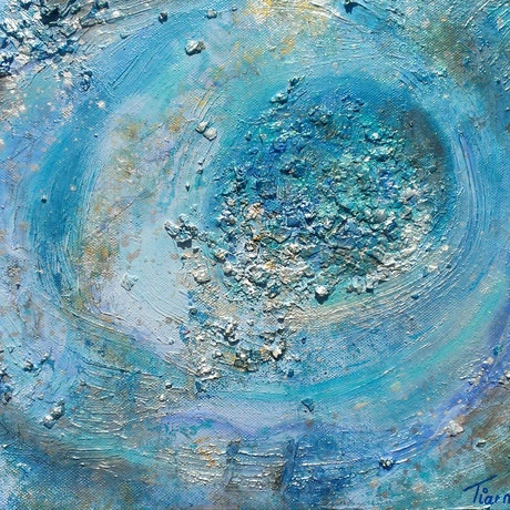 (CreativeWork) One moment in time.. textured abstract by Tiarni Badger. Mixed Media. Shop online at Bluethumb.