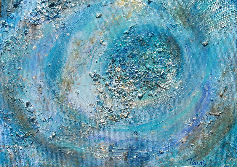 (CreativeWork) One moment in time.. textured abstract by Tiarni Badger. mixed-media. Shop online at Bluethumb.