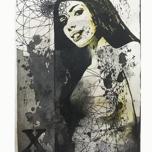 (CreativeWork) LADY [IN & OUT] STUDY DRAWING 2016 by G Kustom Kuhl. mixed-media. Shop online at Bluethumb.