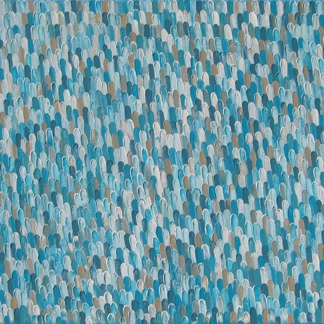 """(CreativeWork) """"AZURE"""" by Alorna & Co. Acrylic Paint. Shop online at Bluethumb."""