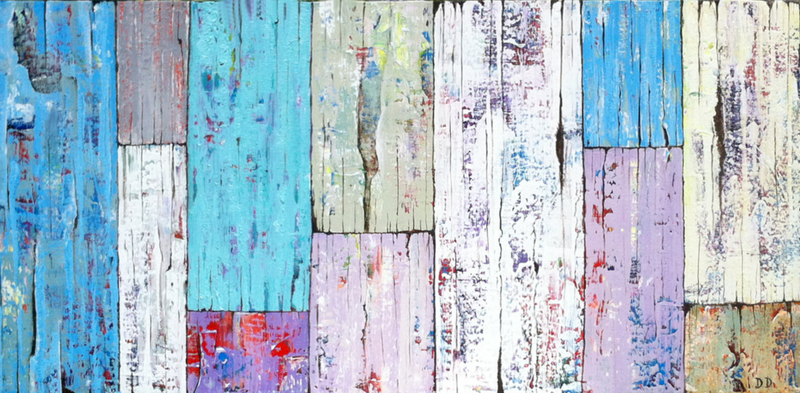 (CreativeWork) Coastal planks by Dianne Delandro. arcylic-painting. Shop online at Bluethumb.