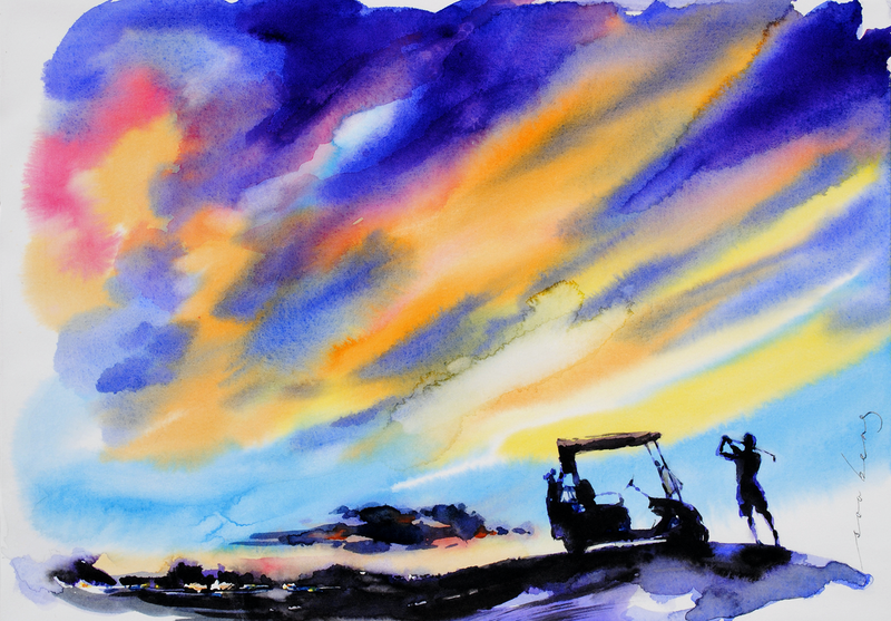 (CreativeWork) First Light 2 by Soo Beng Lim. watercolour. Shop online at Bluethumb.