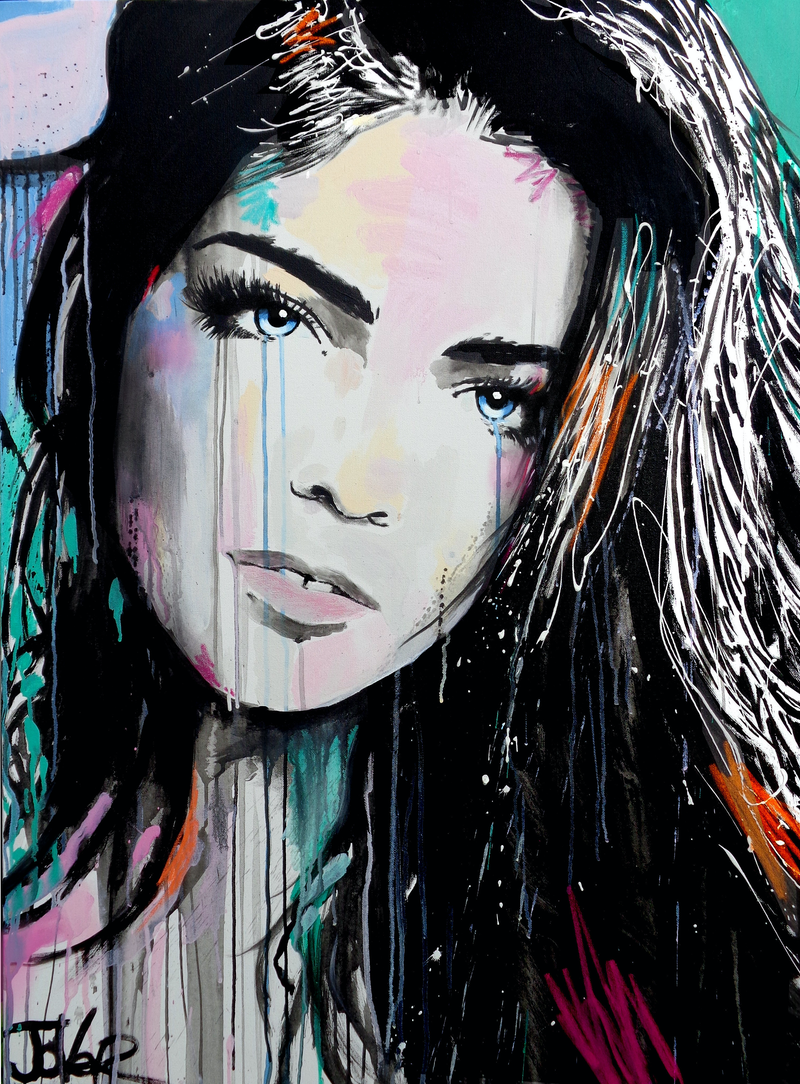 (CreativeWork) FALLING by loui jover. arcylic-painting. Shop online at Bluethumb.