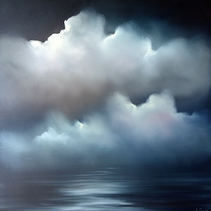 (CreativeWork) Incandescent Night by Elaine Green. oil-painting. Shop online at Bluethumb.