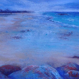 (CreativeWork) View from the Rocks by Vicki Reid. mixed-media. Shop online at Bluethumb.