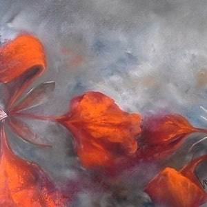 (CreativeWork) Dousing the Fire by Sue Norris. oil-painting. Shop online at Bluethumb.