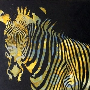 (CreativeWork) Zebra by Jing Tian. arcylic-painting. Shop online at Bluethumb.
