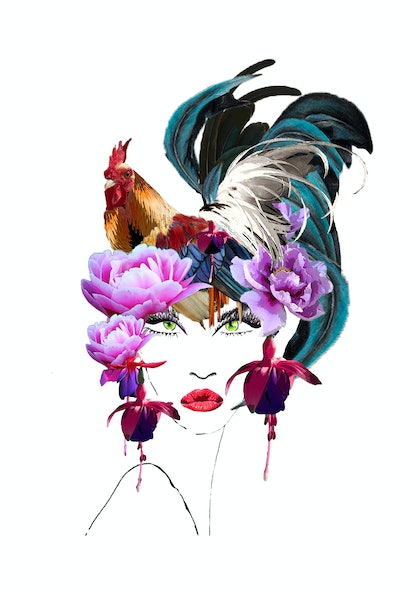 (CreativeWork) Year of the Rooster  by BaleaRaitz Lorena. print. Shop online at Bluethumb.