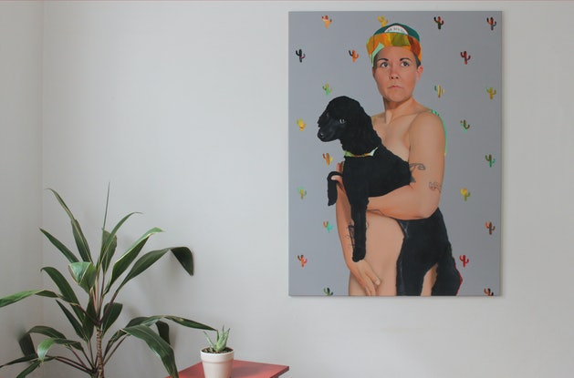 (CreativeWork) The Boo and Baby Sitges by Kim Leutwyler. Oil Paint. Shop online at Bluethumb.