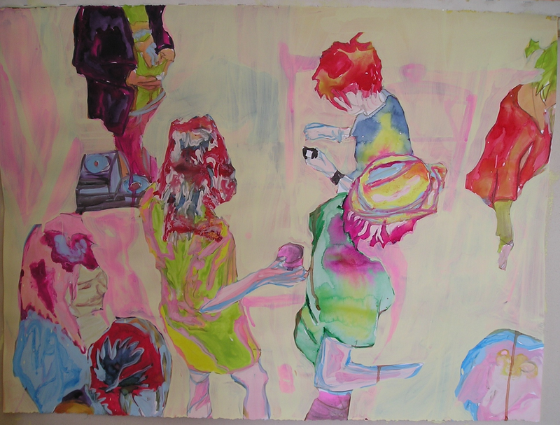 (CreativeWork) Party #13 by Josh Honeyman. watercolour. Shop online at Bluethumb.