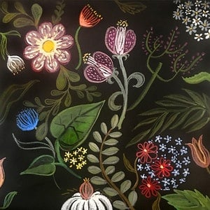 (CreativeWork) Blooming Bold by Donna Christie. arcylic-painting. Shop online at Bluethumb.