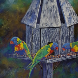 (CreativeWork) Visitors by Helen Miles. other-media. Shop online at Bluethumb.