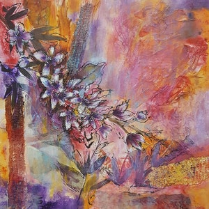 (CreativeWork) Beyond the Layers by Karin Brear. mixed-media. Shop online at Bluethumb.