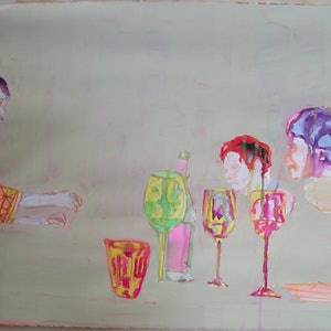 (CreativeWork) Party #19 by Josh Honeyman. watercolour. Shop online at Bluethumb.