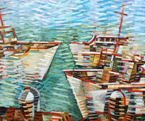 (CreativeWork) At Harbour by D.M. (David Martin) Ross. #<Filter:0x00007f97a8789938>. Shop online at Bluethumb.