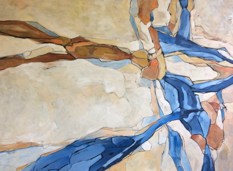(CreativeWork) Rocks and shadows 2 by sue bannister. Oil Paint. Shop online at Bluethumb.