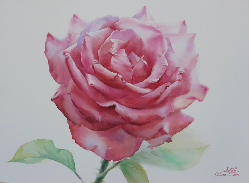 (CreativeWork) Flaming by Richard(Tiejun) Chao. Watercolour Paint. Shop online at Bluethumb.